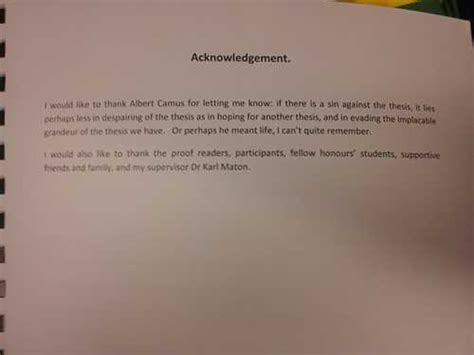 Acknowledgement Letter For God Dissertation Acknowledgements Exles And Information