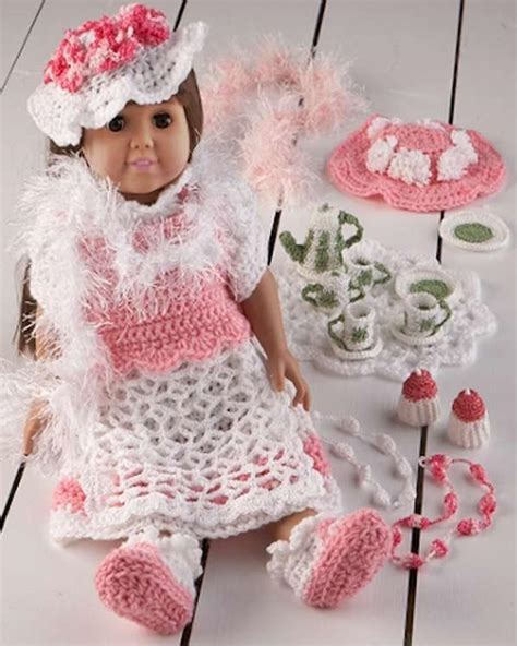 pattern house helena 18 quot doll helena has a tea party crochet pattern maggie s