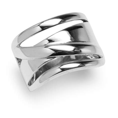 17mm 925 sterling silver wide band modern casual ring ebay