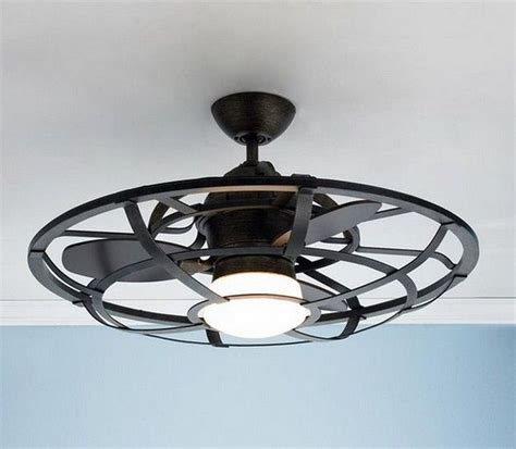 small industrial ceiling fan industrial cage ceiling light fixture home decor