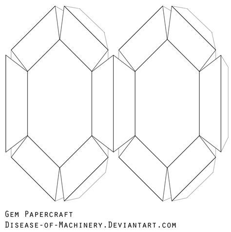 Blank Papercraft - gem papercraft blank by disease of machinery on deviantart
