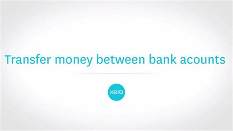 Transferring Money Between Bank Accounts And Reconciling