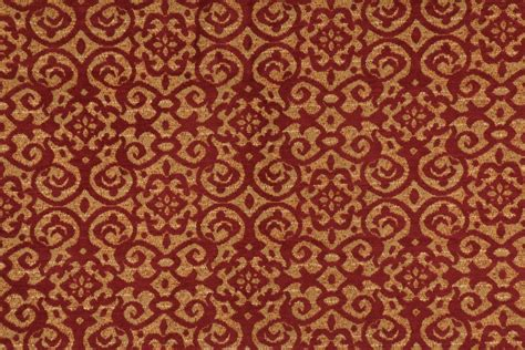 red gold upholstery fabric 3 7 yards fabricut chenille tapestry upholstery fabric in