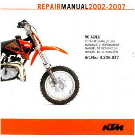 Ktm 50 Service Manual 2002 2007 Ktm 50 Ac Lc Repair Manual On Cd Rom