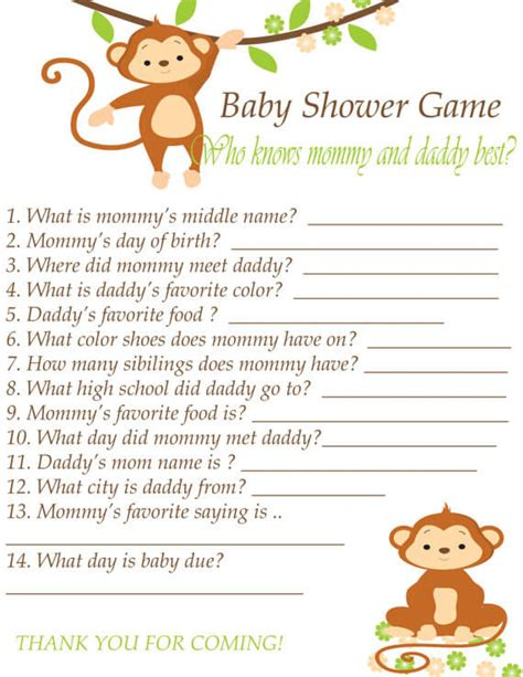 New Year Home Decor template of baby shower guessing game and guest list