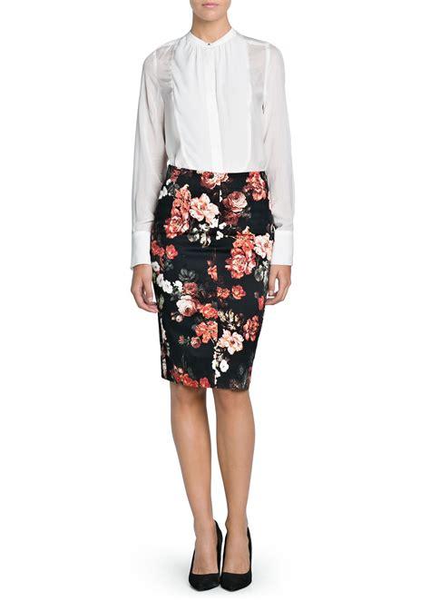 black floral print pencil skirt dress ala