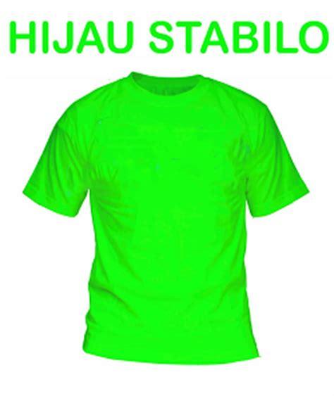 Lop Angpaulebaranbesar Polos Warna Hijau Stabilo jasa kaos print dtg murah warna polo