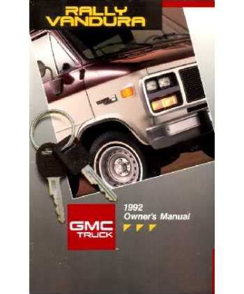 service and repair manuals 1992 gmc vandura 1500 seat position control 1992 gmc vandura g rally owners manual