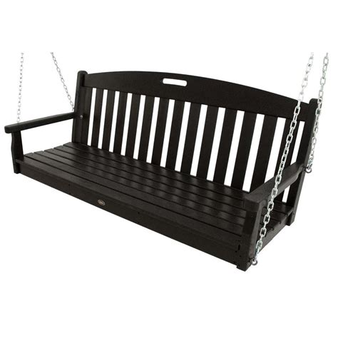 Trex Outdoor Furniture Yacht Club Charcoal Black Patio Outdoor Furniture Swings