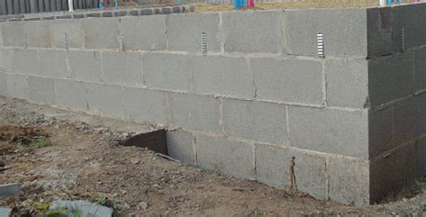 Cost Of Building A Covered Patio Concrete Block Foundation Walls