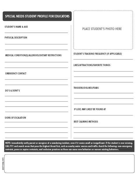 Student Profile Form   2 Free Templates in PDF, Word