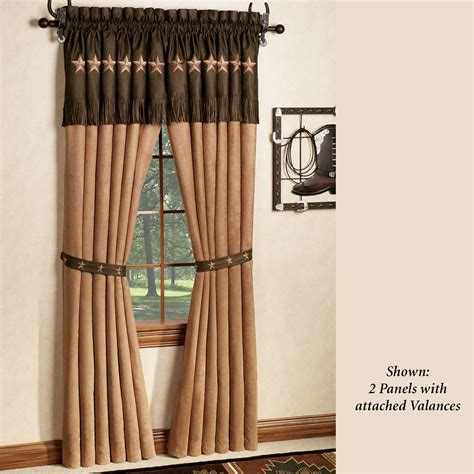 curtain with attached valance laredo curtain panel with attached valance