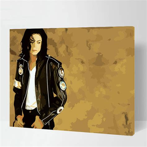 frameless pictures michael jackson max size 60x75cm frameless pictures paint