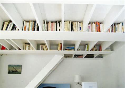 kreative ideen f 252 r b 252 cher aufbewahrung hausbibliothek design - Kreative Badezimmer Lagerung Ideen
