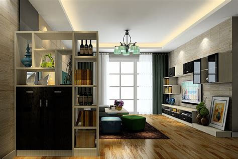 partition cabinet living room living room with wood floors and minimalist style