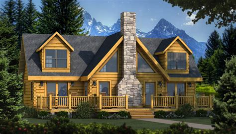 lake cabin kits quot the grand lake quot is one of the many log cabin home plans