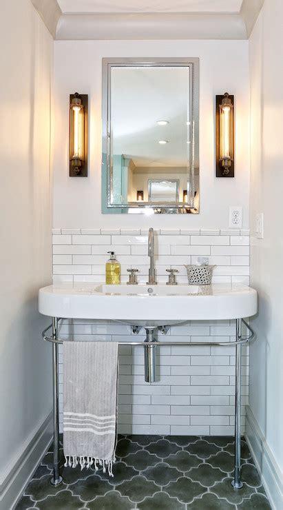 gray moroccan tiles contemporary bathroom derosa