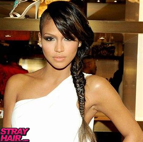 long cornrow hairstyles with shaved sides 50 great cassie hairstyles photos strayhair