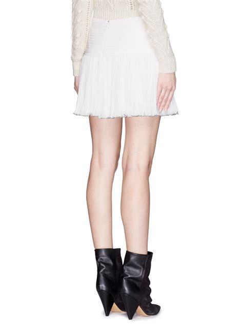 marant will pleat waist pliss 233 chiffon mini skirt