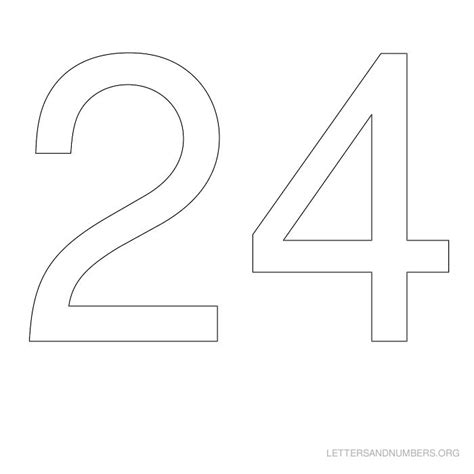 printable number stencils 24 inch best photos of printable number 24 number 24 worksheets