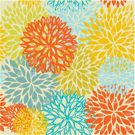 seamless pattern flower motley seamless floral pattern royalty free vector clip