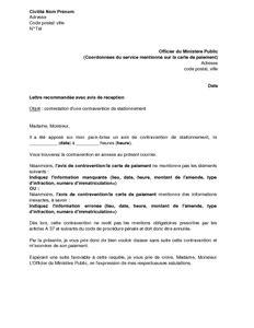 lettere pv lettre de contestation d un pv de stationnement pour vice