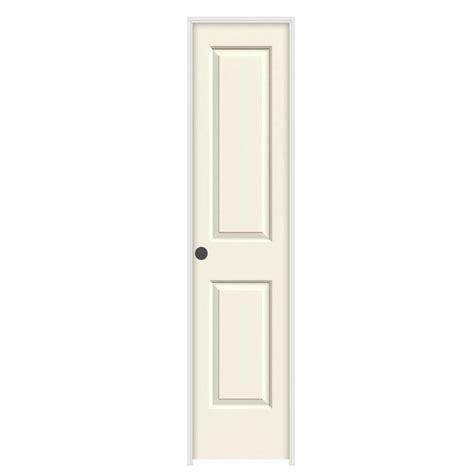 home depot prehung interior doors jeld wen 18 in x 80 in cambridge vanilla painted right