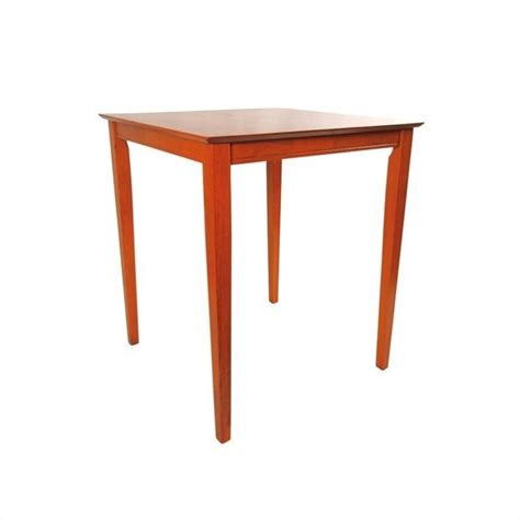 Square Bar Table 42 Quot Square Wood Top Pub Table In Es Light Cherry 70664