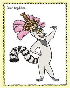 color king color king julien free madagascar coloring page jumpstart