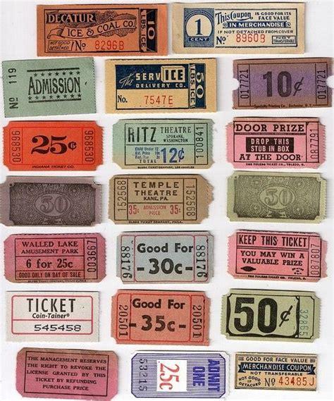 printable bus tickets vintage tickets http designspiration net image