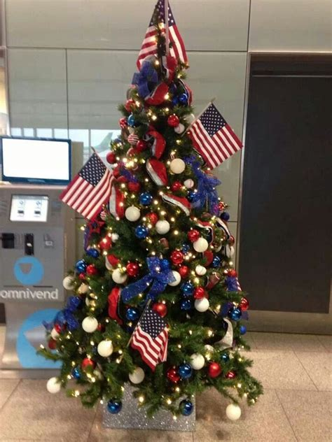 christmas tree lights america i would do more smaller flags and definitely some more lights but how adorable would a