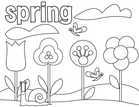 preschool coloring pages for march spring coloring pages to download and print for free