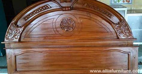tempat tidur kayu jati ukiran astina allia furniture