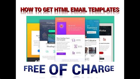 html mail template free how to get responsive html email templates for free