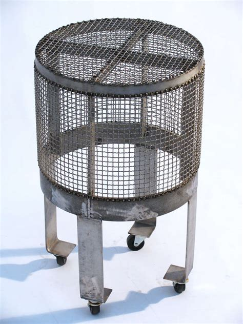 industrial cage table l industrial steel cage table w wheels for sale at 1stdibs