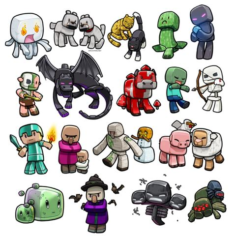 all minecraft mobs drawings minecraft mob knowledge quiz thing