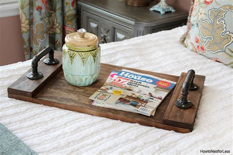 diy tray diy stained wood tray how to nest for less