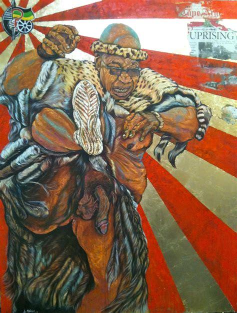 painting new the new painting of jacob zuma by ayanda mabulu www