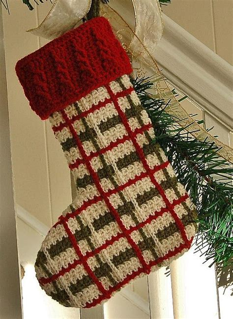 pattern for a crochet christmas stocking decor to turn your home into a crochet christmas wonderland