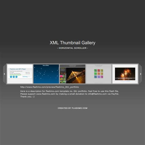 xml templates for website free download flash template 067 thumbnail xml