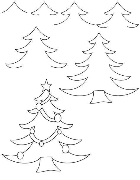 drawing christmas tree