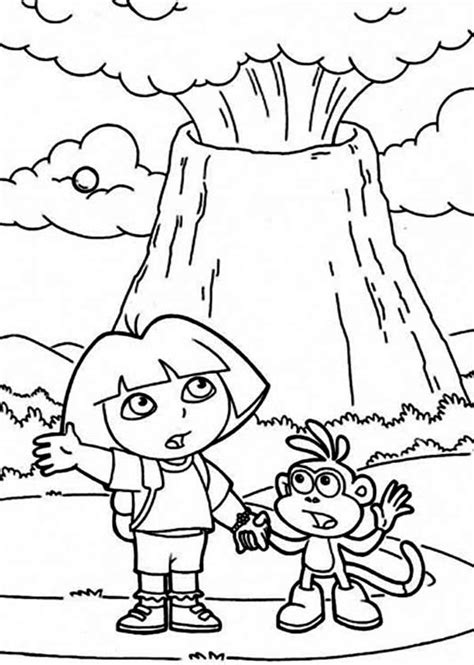volcano coloring pages volcano coloring pages to and print for free