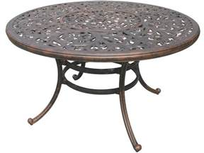 Aluminum Outdoor Dining Table Darlee Outdoor Living Series 80 Cast Aluminum Antique Bronze 52 Dining Table With