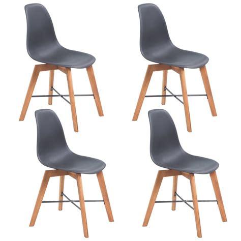 4 Black Dining Chairs Vidaxl Dining Chairs 4 Pcs Acacia Wood Black Vidaxl Co Uk