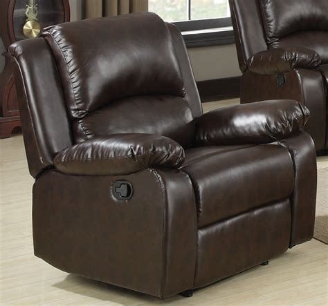 boston recliner chair boston brown recliner from coaster 600973 coleman
