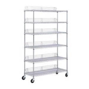 home depot storage shelves honey can do 6 shelf steel shelving unit in chrome 48 in