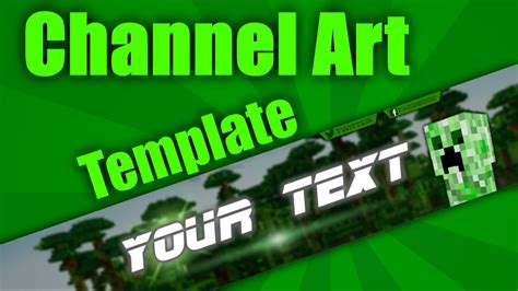 minecraft channel art template minecraft blog