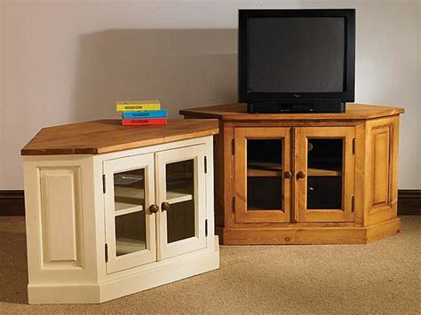 cream corner tv cabinet painted pine furniture corner lcd tv unit stand cabinet ebay