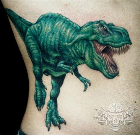 seite dinosaurier tattoo von tattooed theory