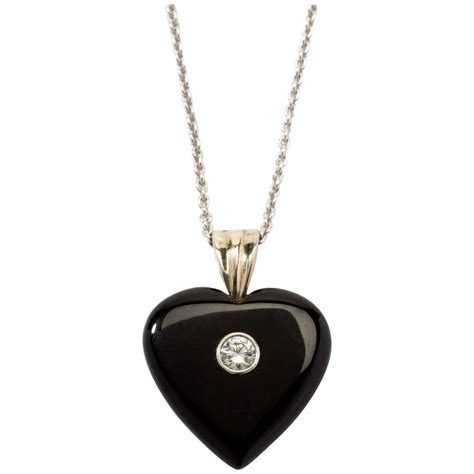 1 78 Ct Black Berlian onyx pendant with chain 1900 rubylux